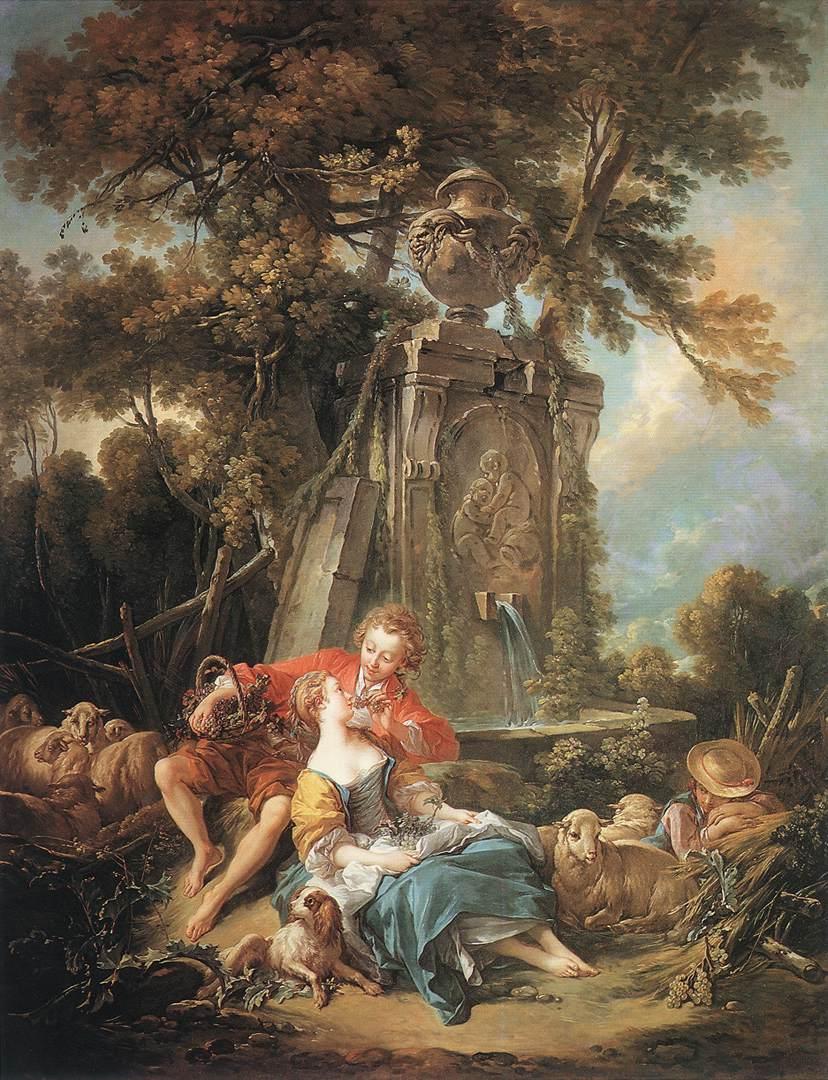 François Boucher (French, Rococo , 1703-1770) – Autumn Pastoral