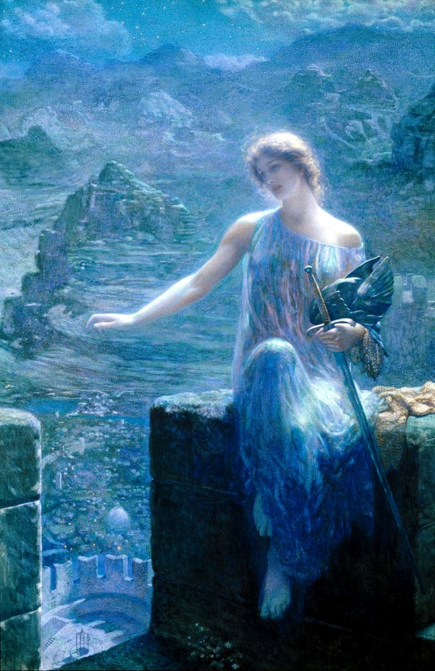 Edward Robert Hughes - The Valkyrie's Vigil